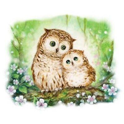 Owls in Green Forest  Shimmer  7 X 8   Small Design    Tshirt   Sizes/Colors