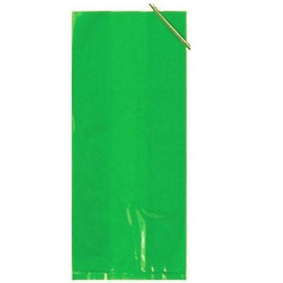 30 Lime Green Cellophane Gift Bags - Plastic Loot Bag Party Birthday Wedding/Kid - Lime Green Gift Bags
