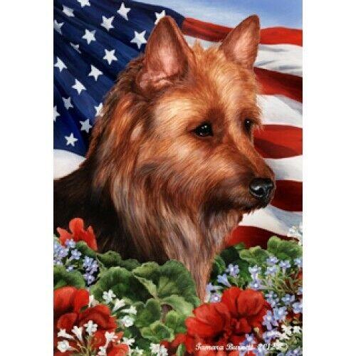 Patriotic (1) House Flag - Australian Terrier 16203
