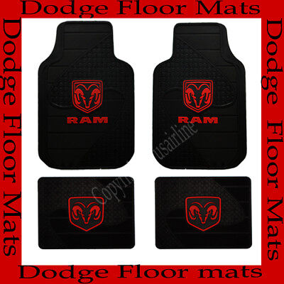 4 PCS  DODGE LOGO CAR TRUCK / SUV / VAN RUBBER FLOOR MATS / BEST QUALITY
