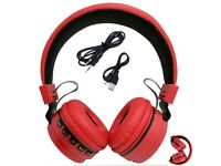 Foldable Wireless Bluetooth Handsfree Headphones + Mic For iPhone iPad Android