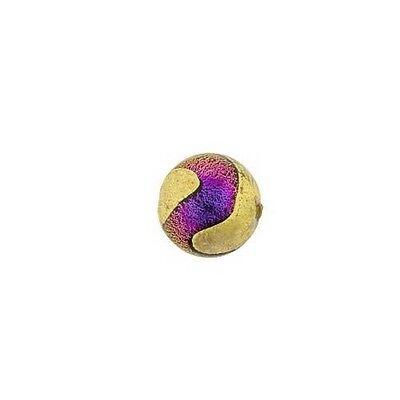 DIAG Venetian/Italian Beads Dichroic Mauve Round 12mm PK1 **UK EBAY SHOP**