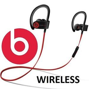 USED BEATS POWERBEATS2 EARPHONES - 116968668 - WIRELESS BLUETOOTH EARBUDS IN EAR HEADPHONES BLACK