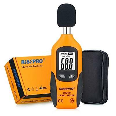 Risepro Decibel Meter Digital Sound Level Meter 30 130 Db Audio Noise