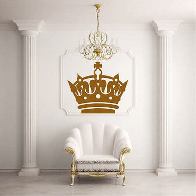 Barrier Decal Sticker Design Crown Glans King Princess Living Room Modern I18
