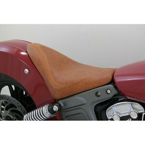 Mustang RunAround Solo Seat Brown Indian Scout