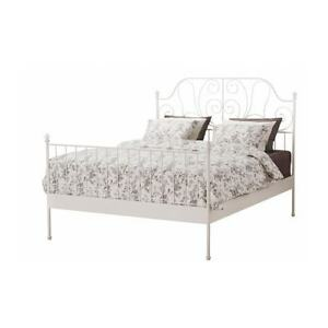 IKEA white metal bedframe
