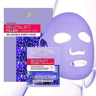 L'Oreal Revitalift Filler Hyaluronic Acid 50ml + Re-Usable Sheet Face Mask