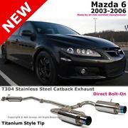 Mazda 6 Exhaust