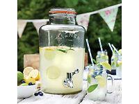 Kilner Garden Party Glass Water & Punch Drinks Dispenser (8 Litres) x 2