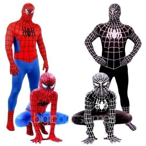 Spider-Man-Kids-Adult-Superhero-Lycra-Spiderman-Hero-Zentai-Halloween-Costume