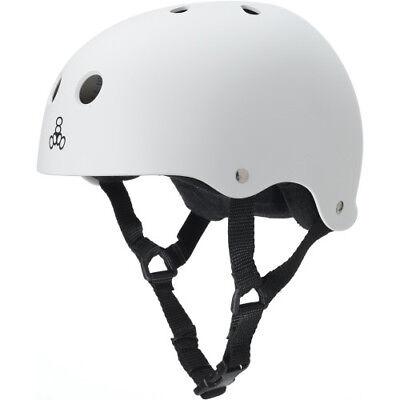 Triple 8 White Rubber Helmet - Medium