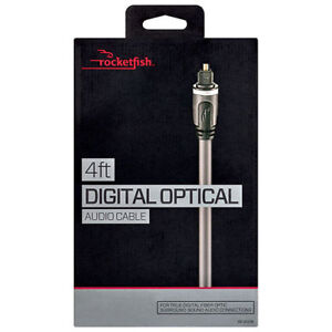 Rocketfish 4ft Digital optical Audio cable