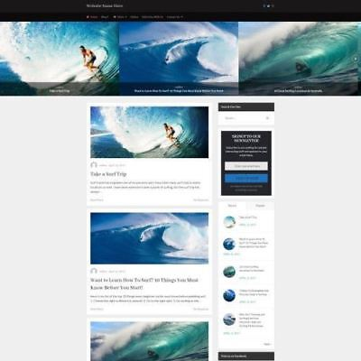 Surfing Store - Business Website For Sale Mobile Friendly Responsive Design