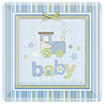 Lot of 2 - Baby Shower 'Carter's Baby Boy' Extra Large Paper Plates (8ct)
