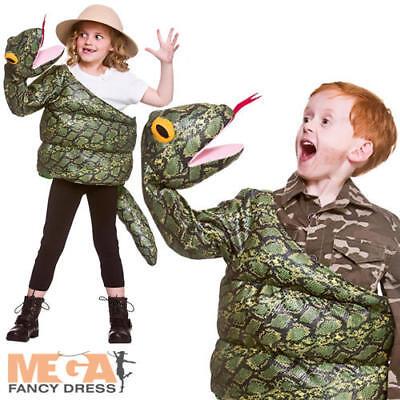 Wrapped Snake Kids Fancy Dress Animal Boys Girls - Snake Girl Kostüm