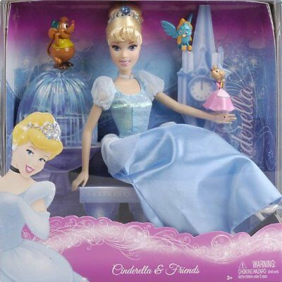 Disney Princess CINDERELLA Doll and Friends FREE US SHIPPNG