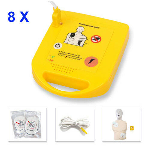 8X Mini AED Trainer XFT-D0009 First Aid Training Unit Practice Kit Fast Shipping