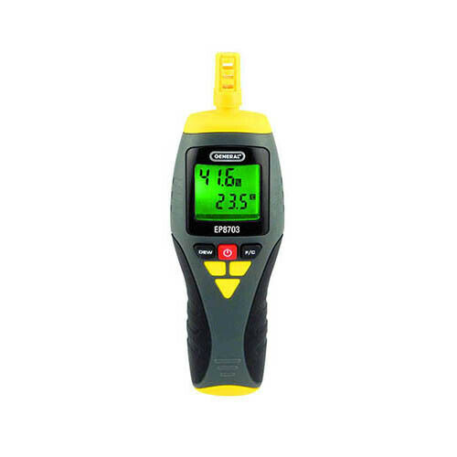 General Tools EP8703 3-Function Temp/RH Meter, 14° to 122° F