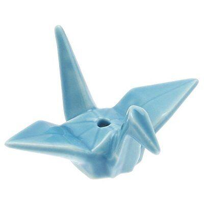 Japanese Ceramic Sky Blue Origami Crane Incense Stick Stand Holder Made in - Sky Crane