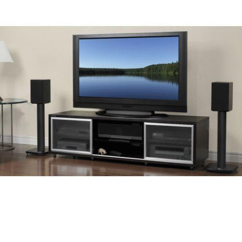 75 tv stand ebay. Black Bedroom Furniture Sets. Home Design Ideas