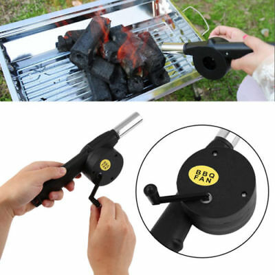 BBQ Grill Fan Fire Bellow Camping Picnic BBQ Party Air Blowe