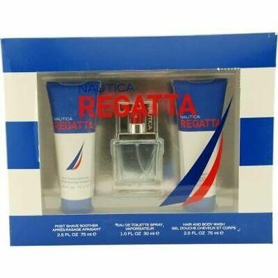 Nautica Regatta Gift Set (Edt Spray & Post Shave Soother & Hair & Body Wash)