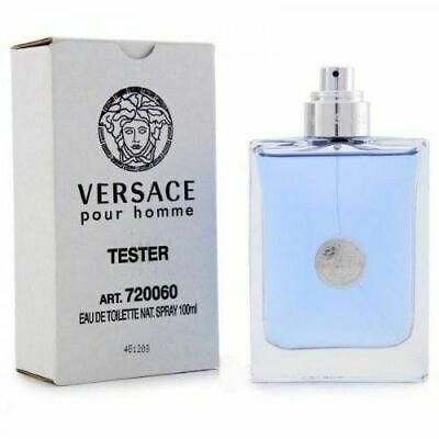 VERSACE POUR HOMME for Men 3.4 oz cologne 3.3 EDT Spray *NEW TESTR PERFUME