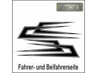Scania MAN VOLVO Mercedes DAF Dekor Dach Zacken Aufkleber Sticker LKW für z.B