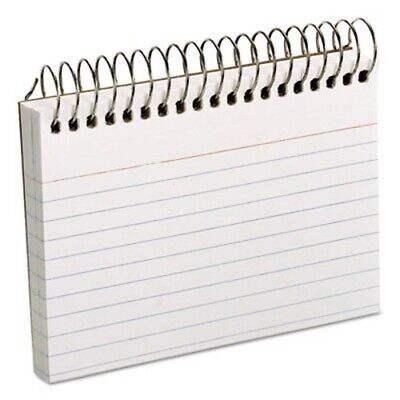 Oxford Spiral Index Cards 3 X 5 Perforated 50 Cards White Oxf40282