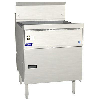Pitco Fbg24 Flat Bottom Gas Fryer 57-87 Lb. Capacity