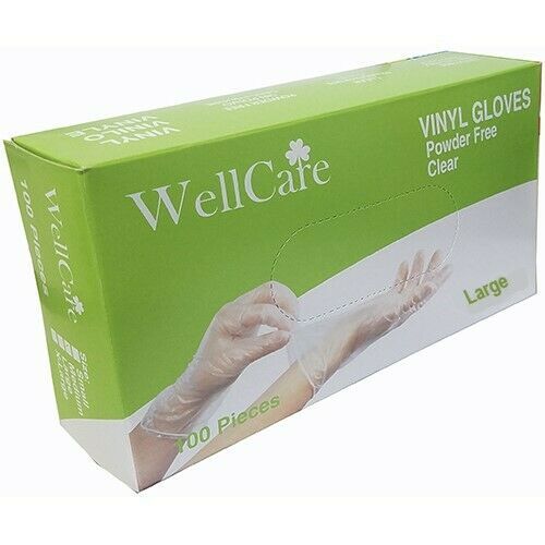 VINYL GLOVES 100 COUNT Latex Free **LARGE**