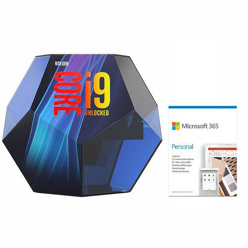 Intel Core i9-9900K Desktop Processor + Microsoft 365 Personal 1 Year