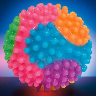 Flashing Rainbow Ball Sensory Tactile Fidget Toy for Special Needs, ADHD, Autism