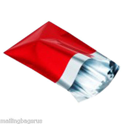 25 Metallic Foil Red Mailing Postage Postal Bags 4.7