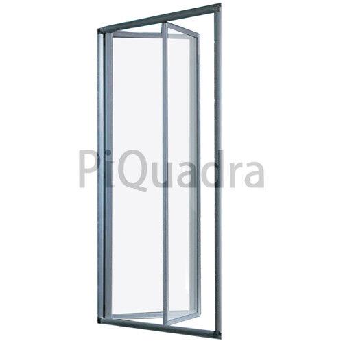 Box doccia nicchia 70 80 90 100 porta pieghevole a libro cristallo trasparente
