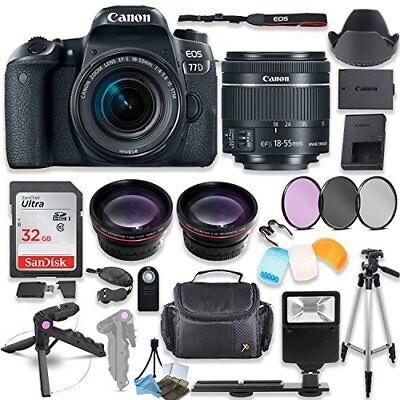 Canon EOS 77D DSLR Camera with 18-55mm STM Lens Kit + Premium Accessory Bundle