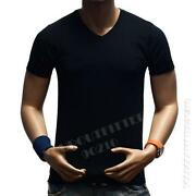 V Neck T Shirt Men