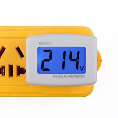 Drok 90538 Flat Plug Ac 80-300v Voltage Panel Power Line Volt Test Monitor Ga...