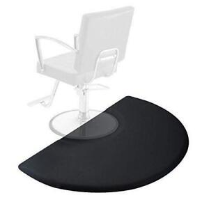 Salon Chair Mat Barber Shop Seat Floor Foam Pad Anti-Fatigue 3 x 5 Semi Circle - BRAND NEW - FREE SHIPPING