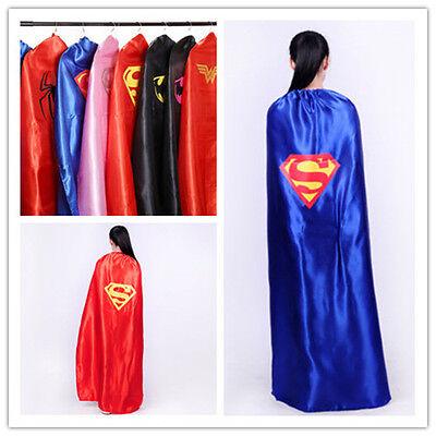 55inch/140cm Adult Superhero Cape Batman Spider Captin American Women Wonder Cos (Batman Adult Cape)
