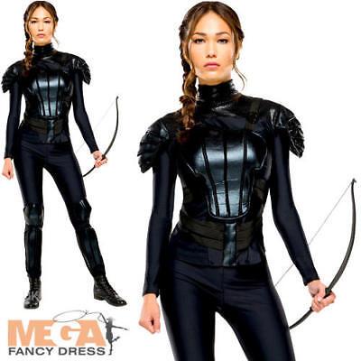 Katniss Ladies Fancy Dress The Hunger Games Mockingjay Book Film Adults Costume
