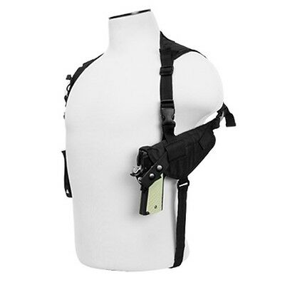 NcStar Ambidextrous Shoulder Holster Horizontal Pistol& Magazine Holder BLK
