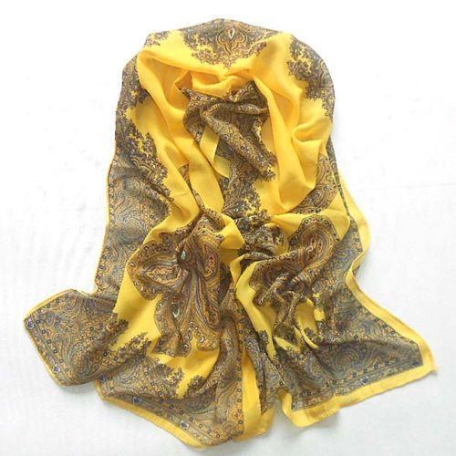 yellow silk scarf scarves wraps ebay