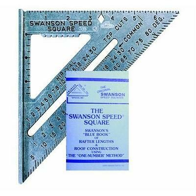Swanson Tool S0101 7 Inch Speed Square Layout Tool With Blue Book New