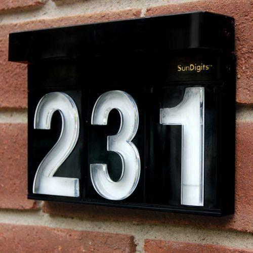 solar powered house numbers ebay. Black Bedroom Furniture Sets. Home Design Ideas