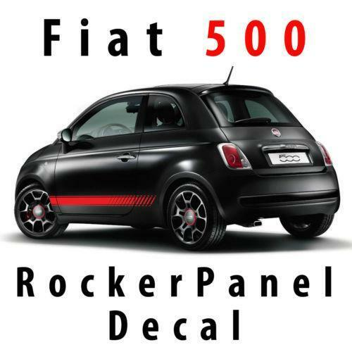 fiat 500 racing stripes ebay. Black Bedroom Furniture Sets. Home Design Ideas