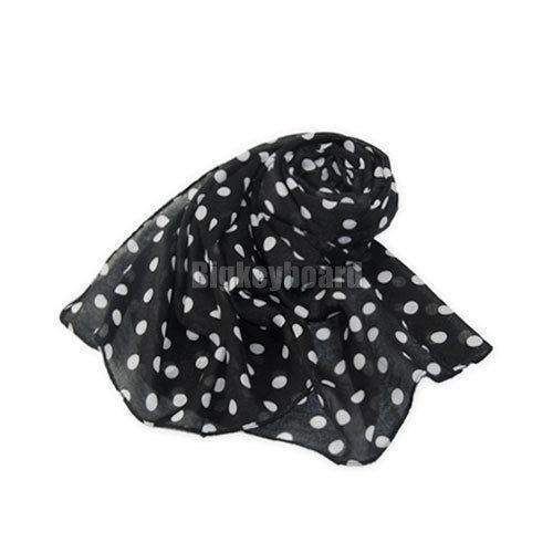 a2794bec50dc Black and White Polka Dot Scarf