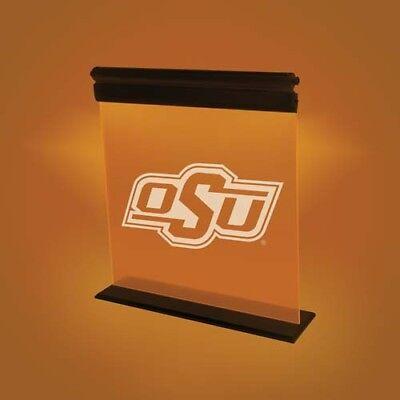 OKLAHOMA STATE COWBOYS ACRYLIC LED SIGN LIGHT LAMP UNIVERSITY MANCAVE OFFICE - Oklahoma Led Sign