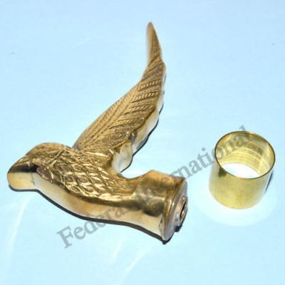 Brass BIRD Handle Nautical Golden Finish For Walking Stick Cane LOT OF 5 PCS